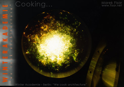 Berlin Art Show - We cook architecture - glass and light instalation