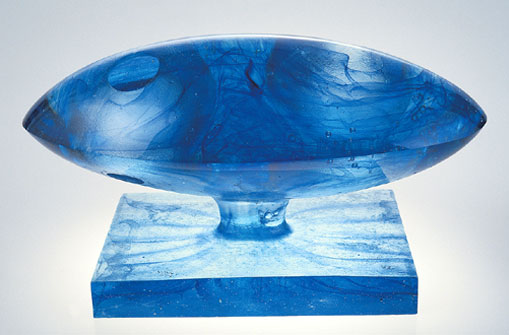 Blue Conception - original glass sculpture. Click to see detail!